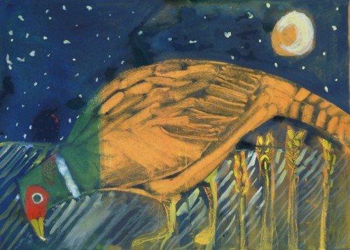 Moonlit Pheasant for Rachel and Martin