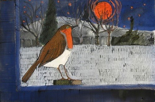A Robin and the Lunar Eclipse