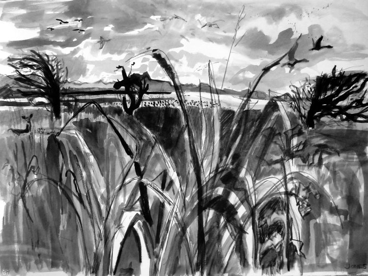 Wild Geese drawing