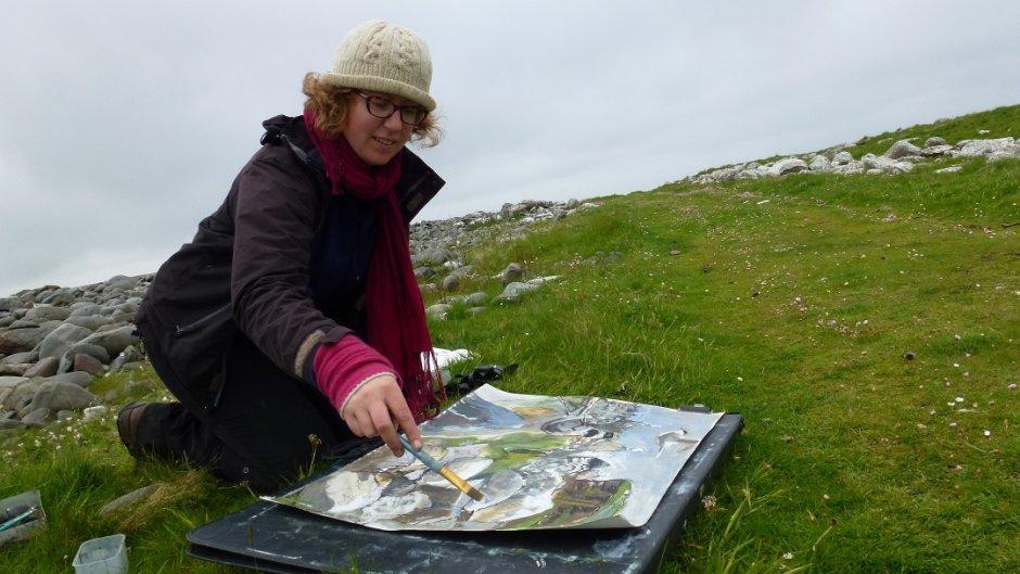 Kittie working on Shetland Photo Credit: Lara Scouller
